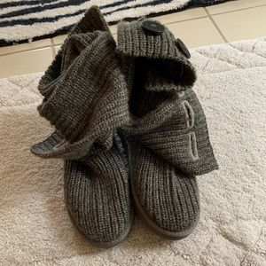 Gray wool Ugg boots